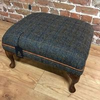 """York""  Harris Tweed Footstool"